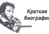 Краткая биография Пушкина А.С. для детей (самая суть)