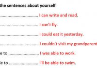 Complete the sentences about yourself (I can)