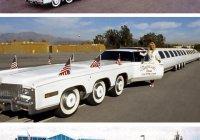 Самый длинный автомобиль в мире (его длину запишите в м, а затем переведите в км)