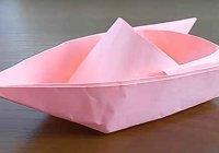 Складываем катер из бумаги в домашних условиях