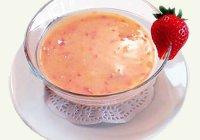 Суп клубничный. Рецепт. Фото.