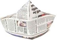 Шапка – Корабль: делаем из газеты своими руками
