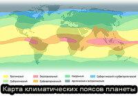 Что можно узнать по климатическим картам?