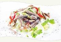 Рецепты приготовления салата с языком