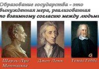 Договорная теория происхождения государства и права