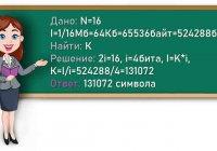 Сколько символов содержит сообщение, записанное с помощью 16-символьного алфавита