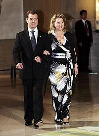 Медведев с супругой