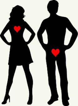 Страсть между мужчиной и женщиной.