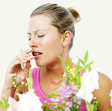Аллергия на цветы.