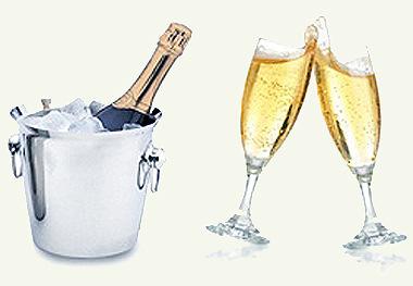 Шампанское.