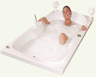 Горячая и холодная ванна.
