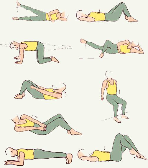 упражнения сжигания жира на коленях