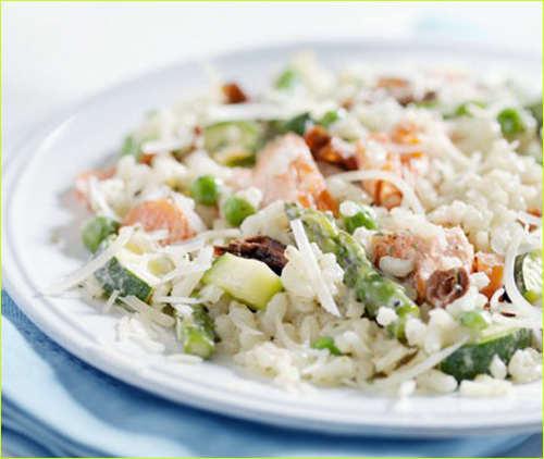 Салат рисовый.
