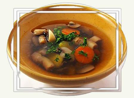 Суп грибной.