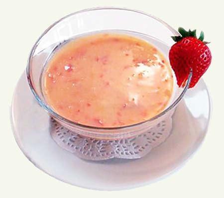 Суп клубничный.