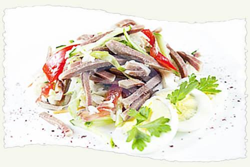 Салат из языка.