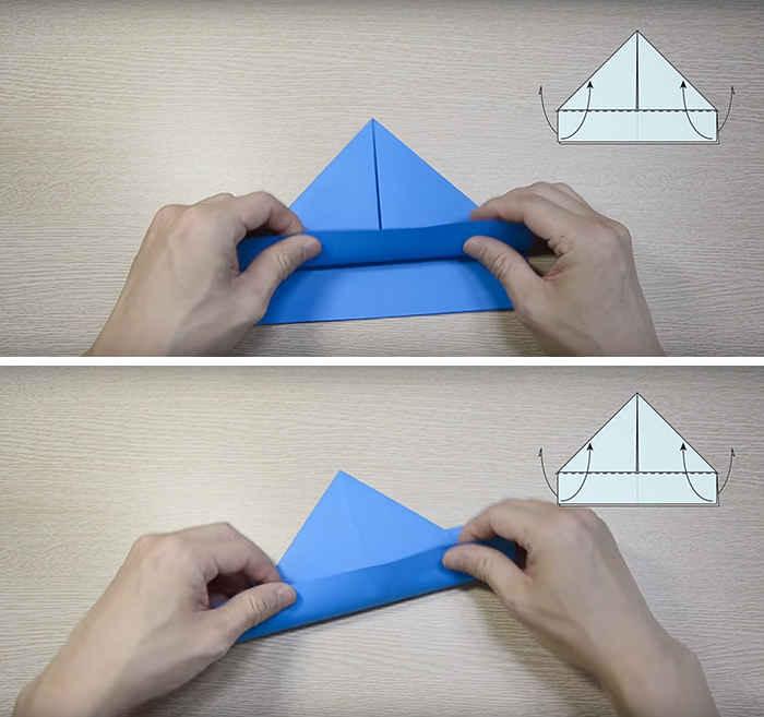 Как сделать кораблик из бумаги пошагово фото