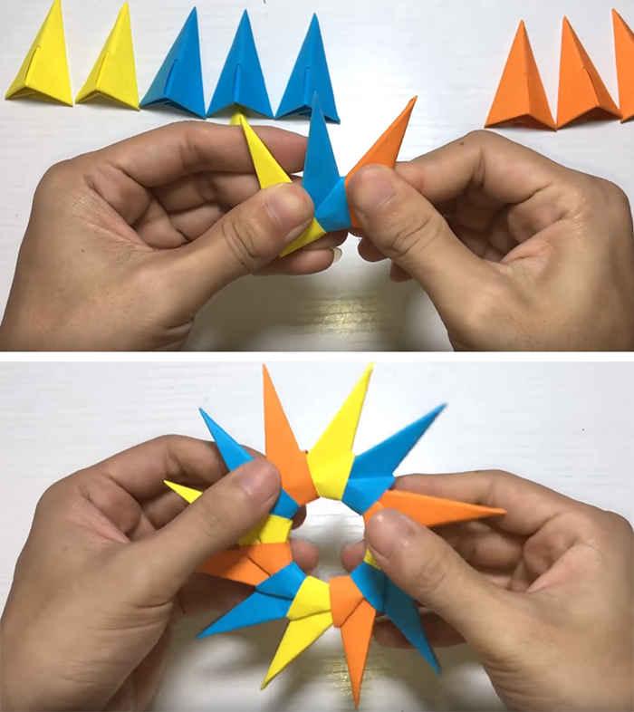 Как сделать бумажный спиннер без подшипника