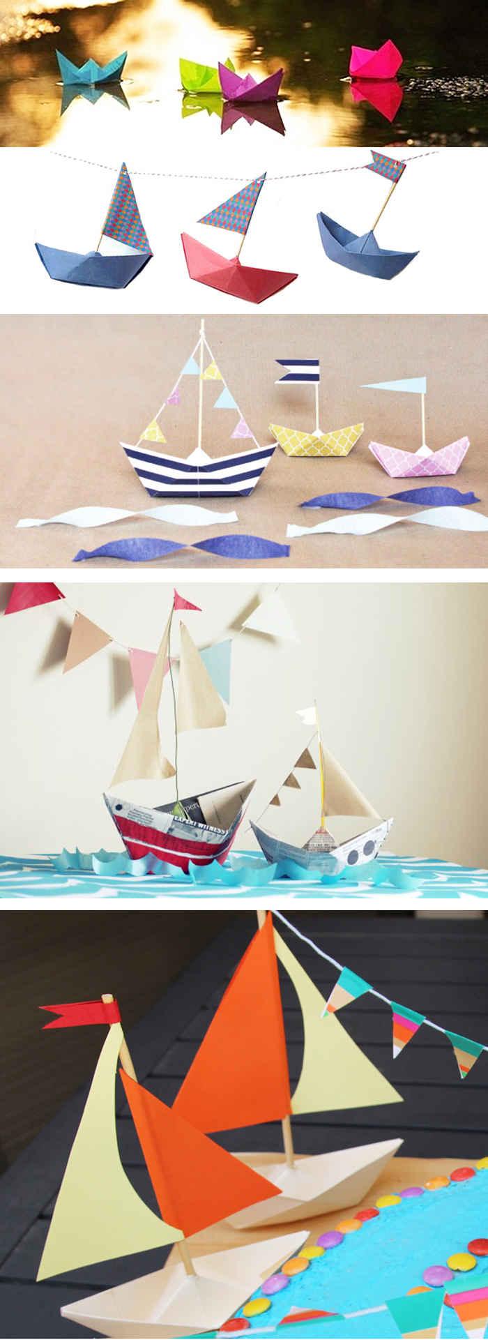 Бумажные кораблики как сделать своими 164