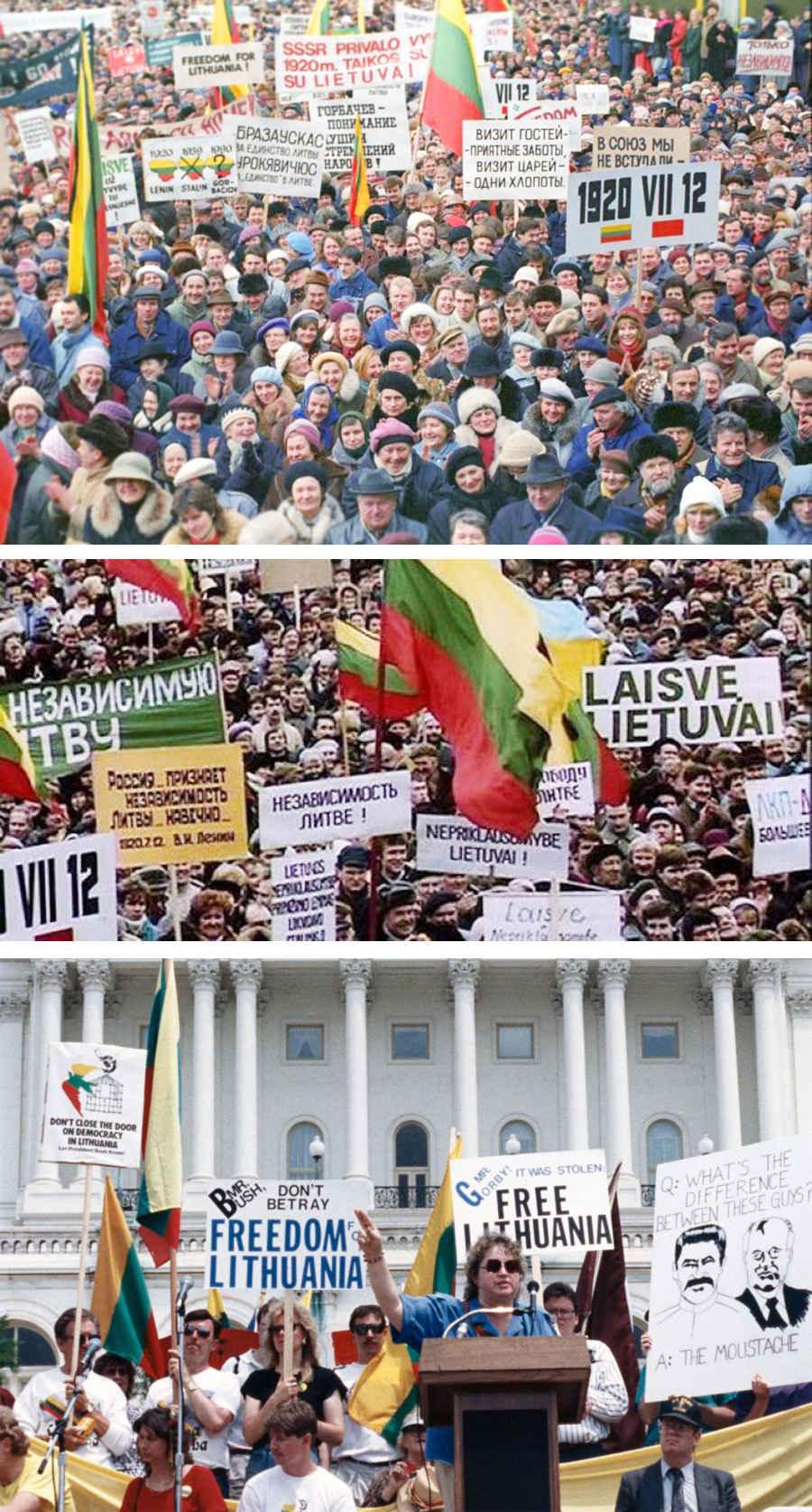 Литва за независимость от влияния СССР