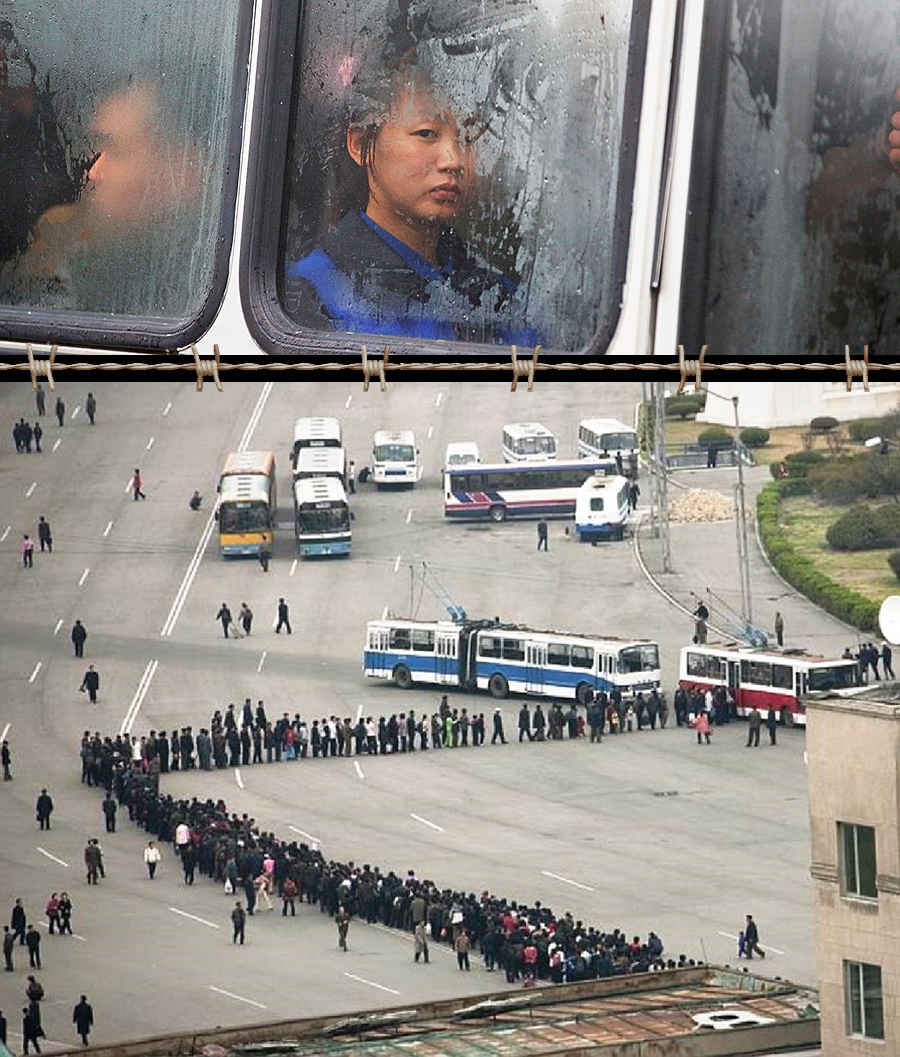 Коллапс автобусов в Северной Корее