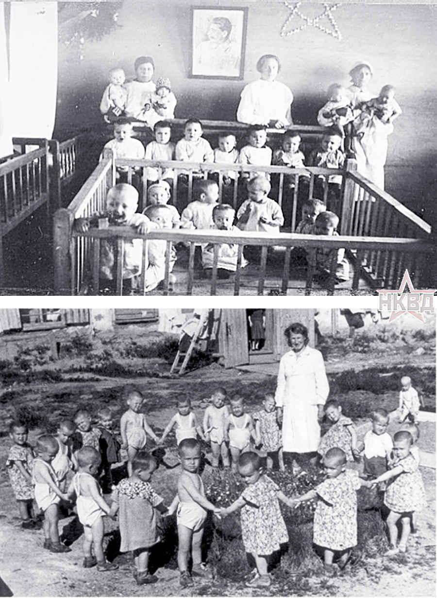 Детские ясли в лагере ГУЛАГа