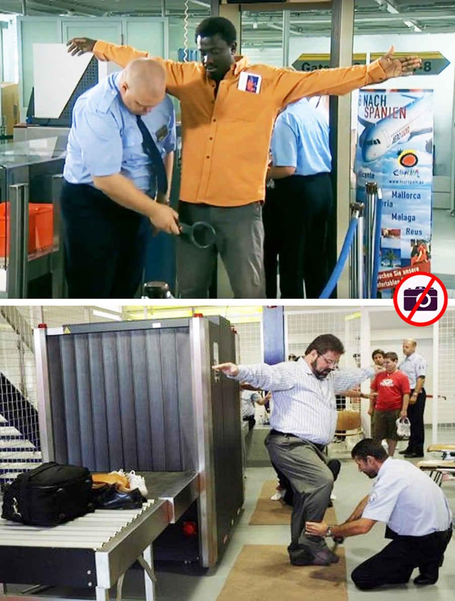Досмотр пассажира в аэропорту