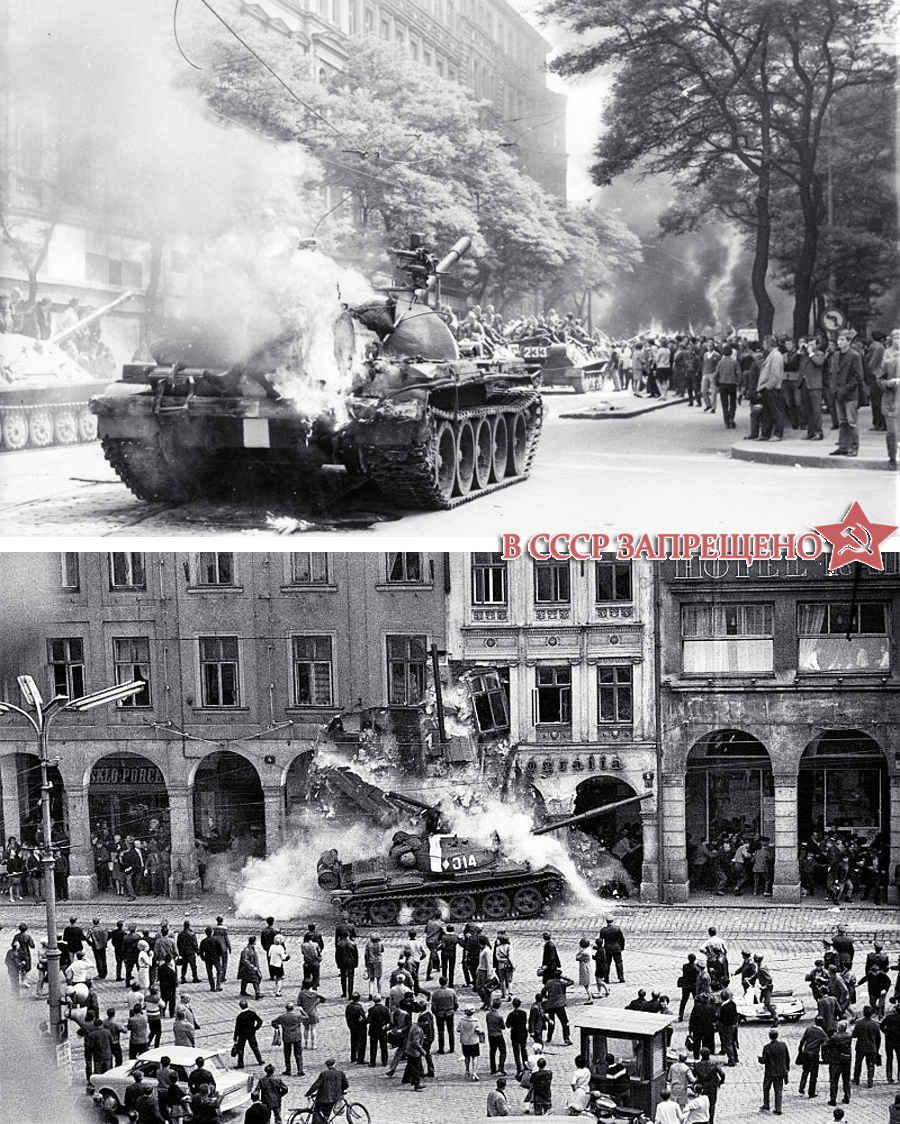 Фотографии горящих советских танков