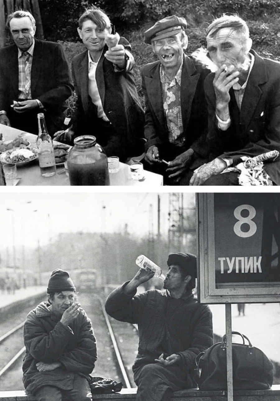 Фотографии пьянства в Советском союзе