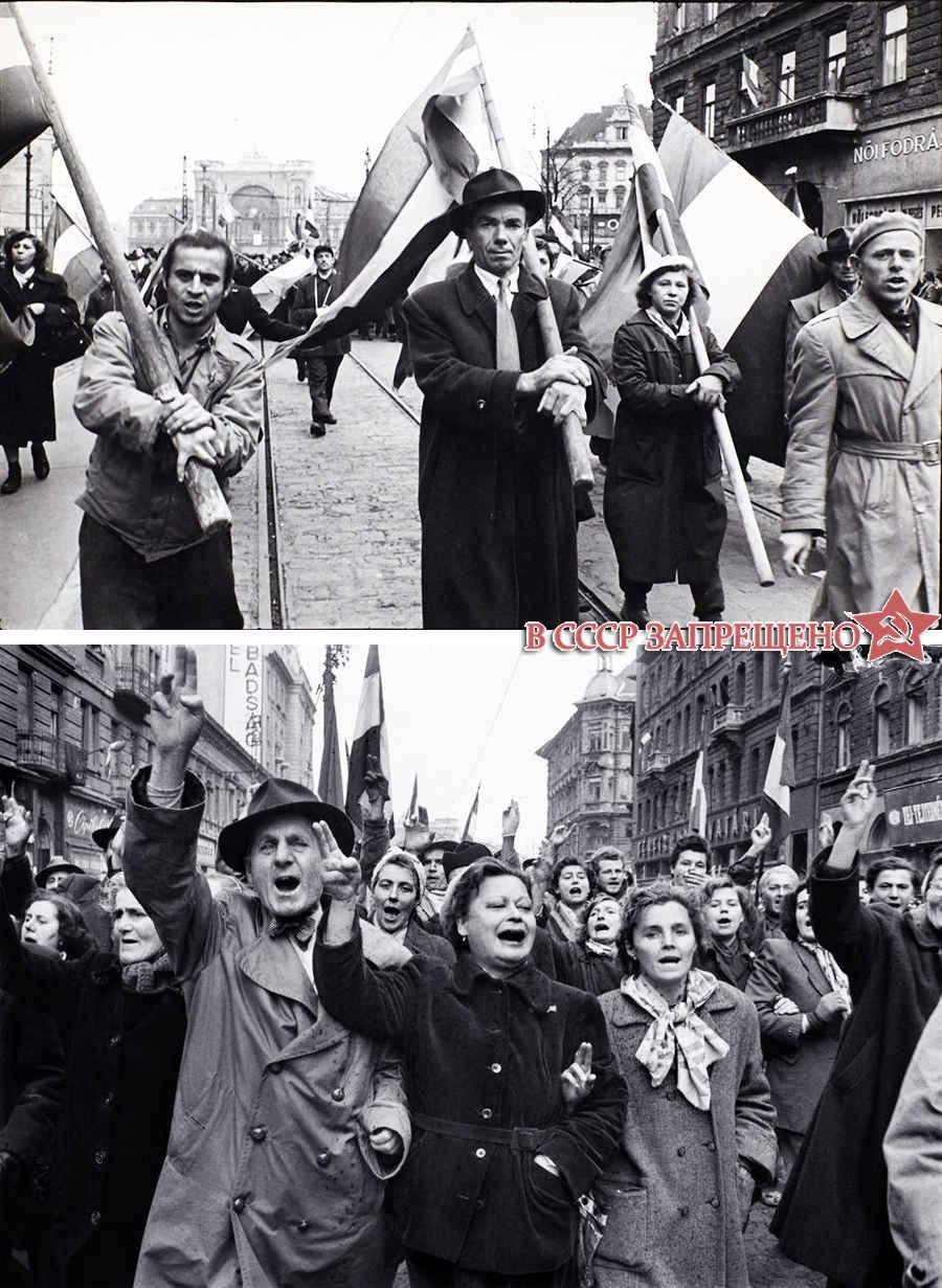 Восставшие венгры в Будапеште в 1956 году