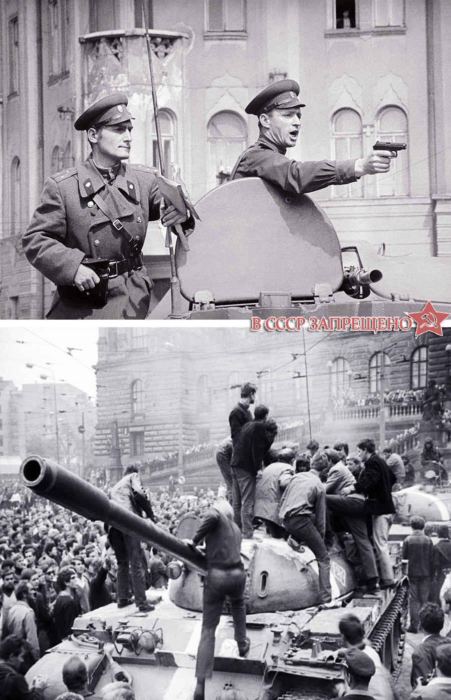 Запрещенные в СССР фотографии восстания в Праге