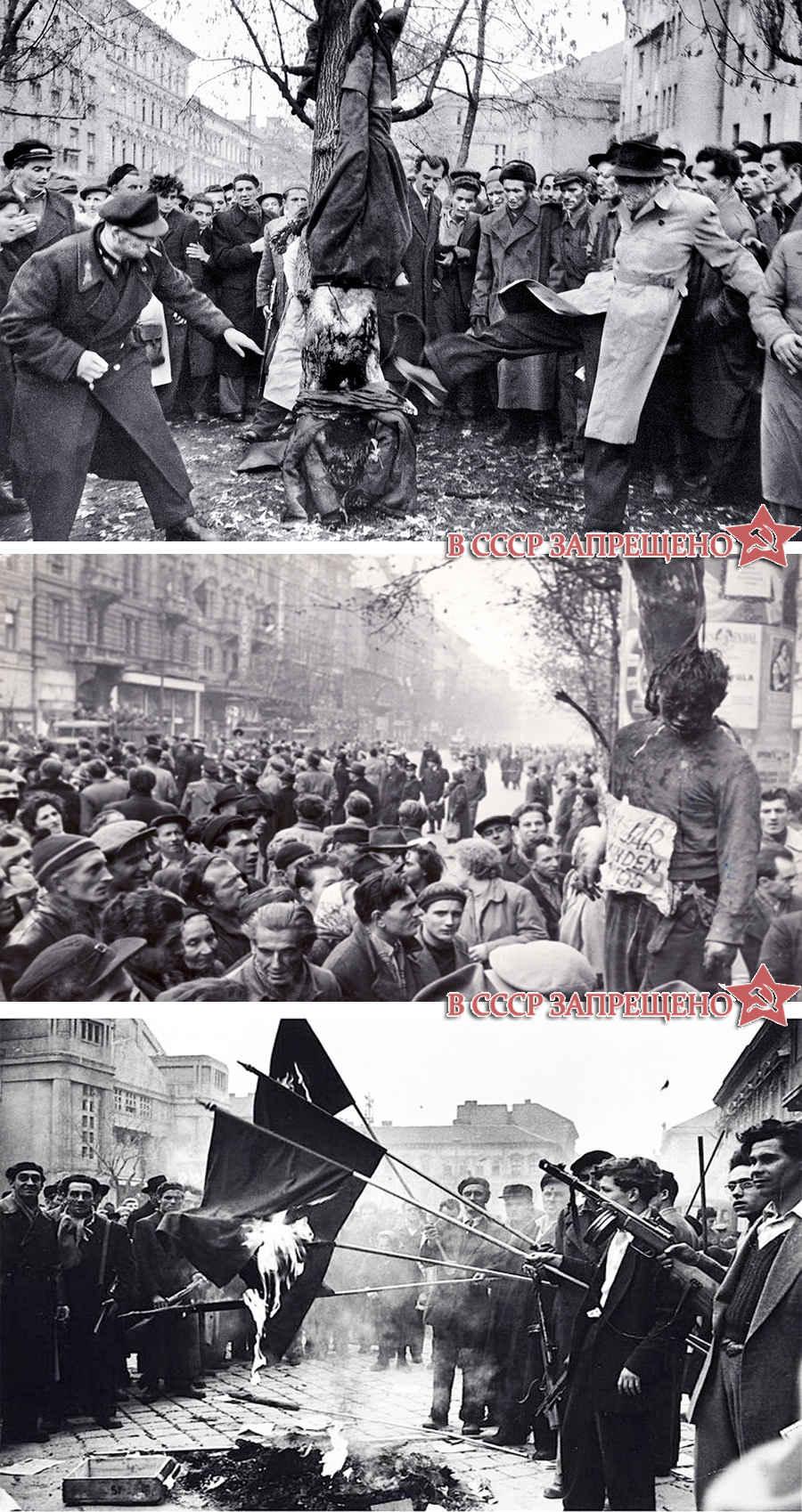 Запрещенные фото восстания в Венгрии