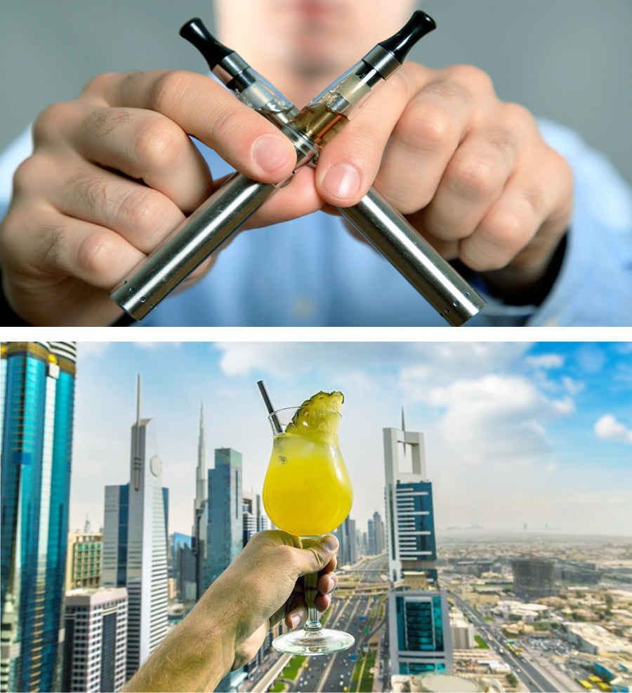 Курение и алкоголь в ОАЭ строго ограничены