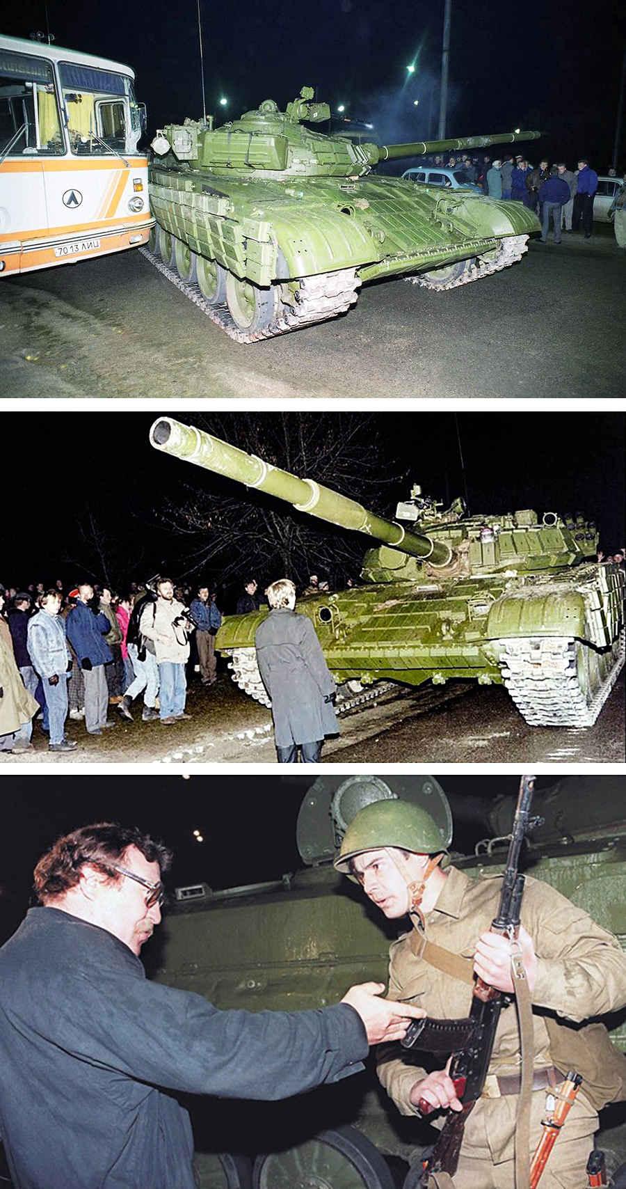 Литовский народ против танков СССР