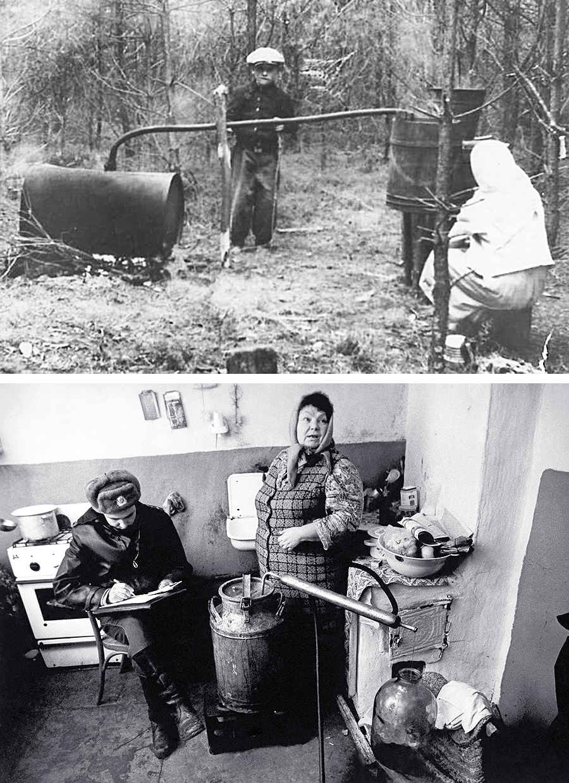Запрещенное производство самогона в СССР