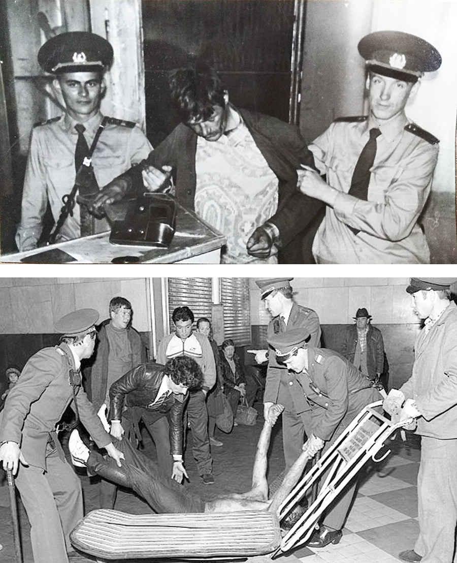 Советская милиция и алкаши