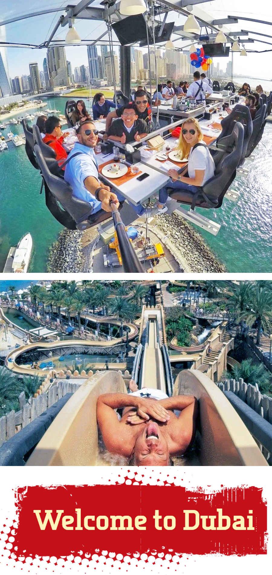 Воздушный ресторан в Дубае