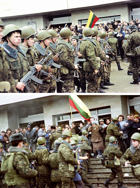Советская армия против независимости Литвы