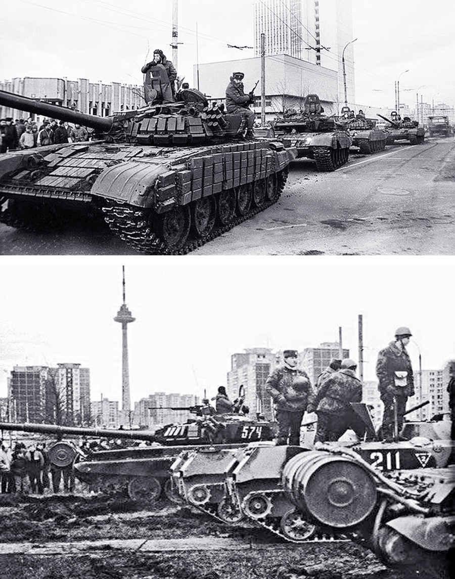 Советские танки в Вильнюсе (1991 г.)