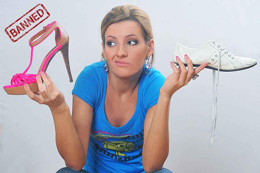 В городе Мобил туфли на шпильках запрещены