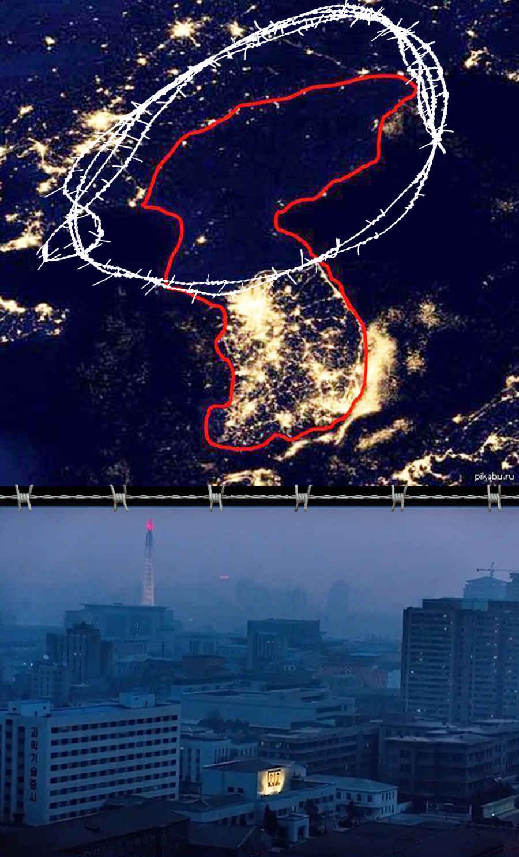 Запрещенное фото Северной Кореи из космоса