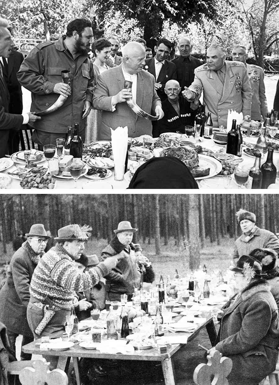 Запрещенные фотографии застолья коммунистических вождей