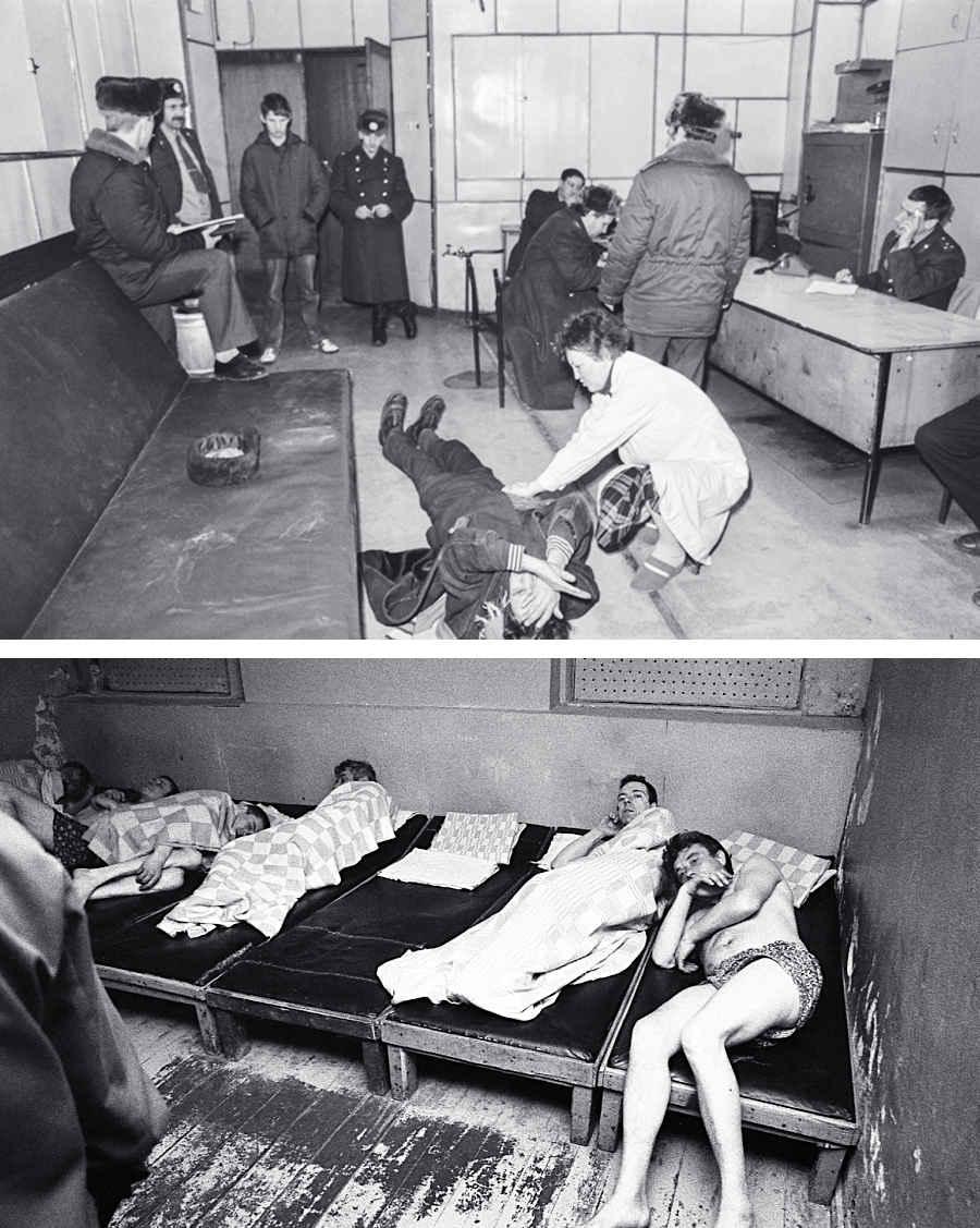 Запрещенные фотографии советских вытрезвителей в СССР