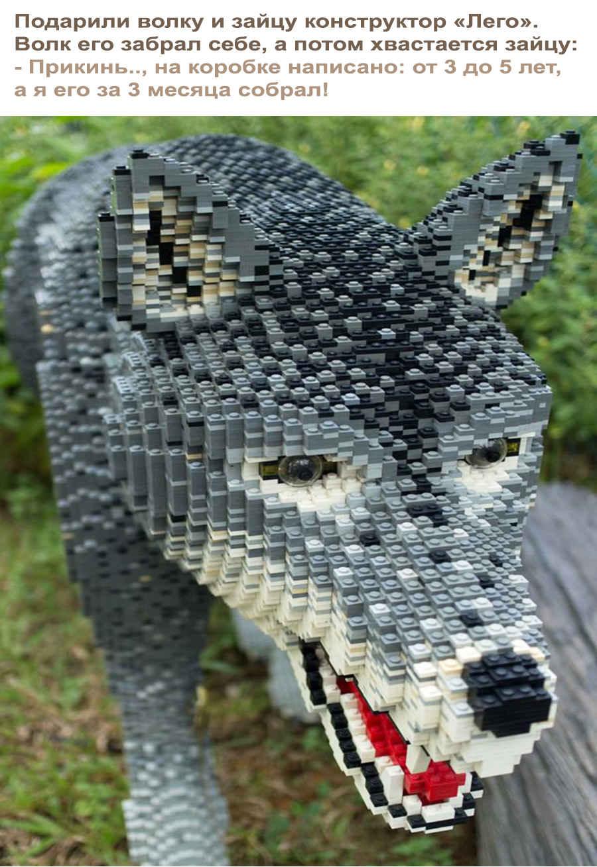 Лего - прикольный волк