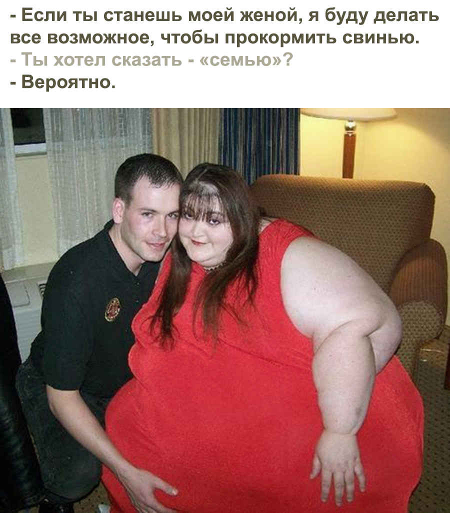 Толстые раздумья - анекдот на фото