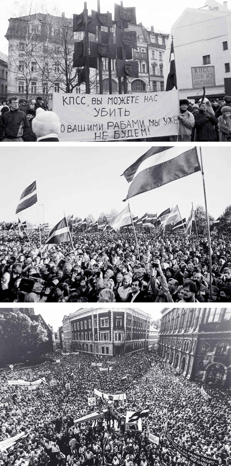 Демонстрации в Латвии в 1991 году
