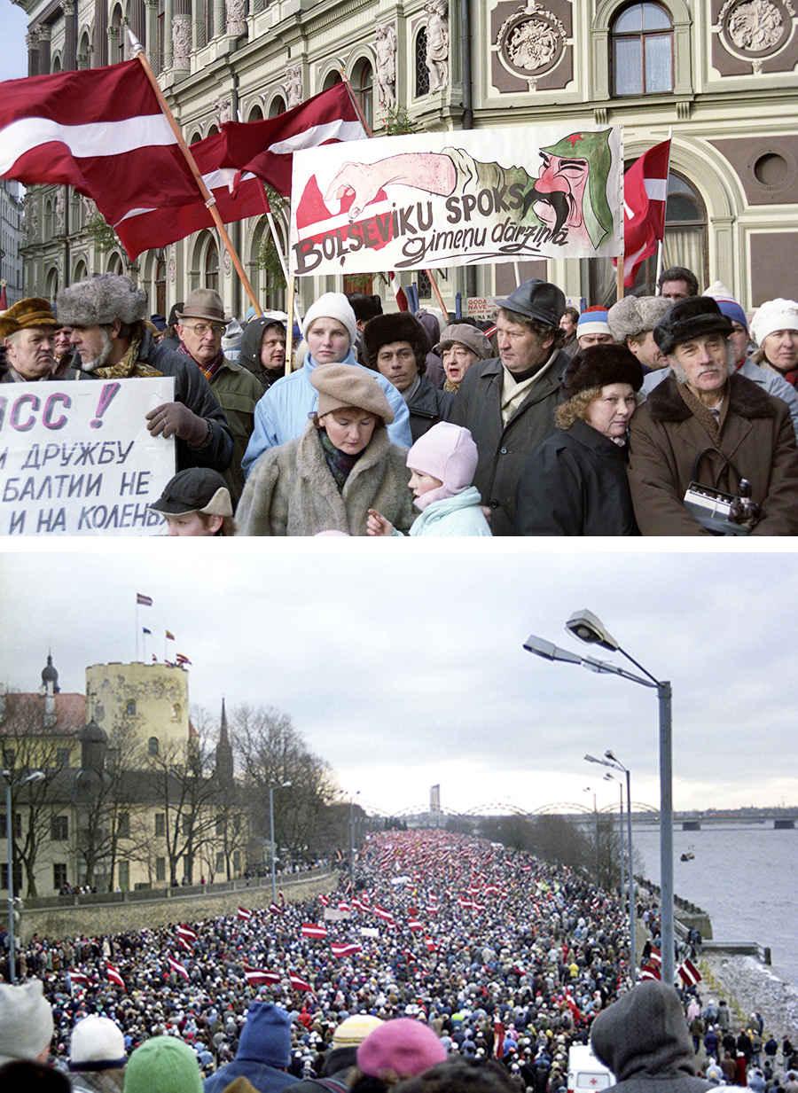 Латвия борется за независимость страны