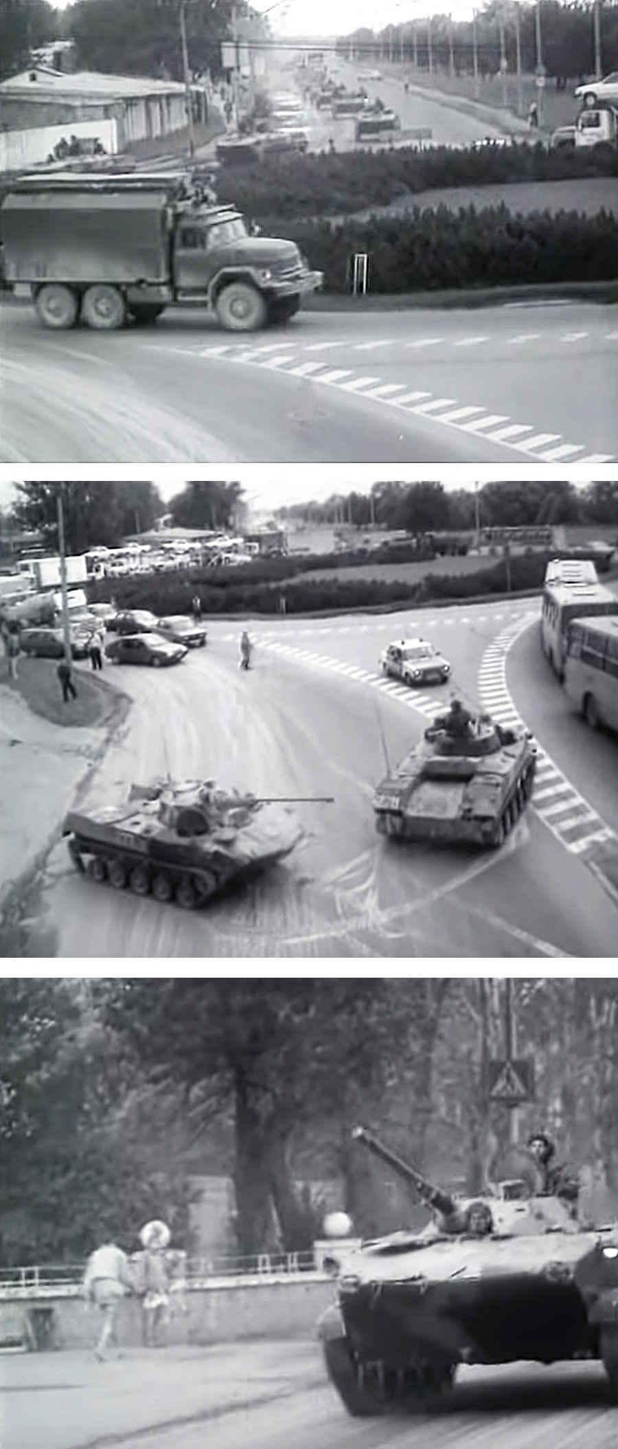 Фотографии советских танков на улицах Таллина