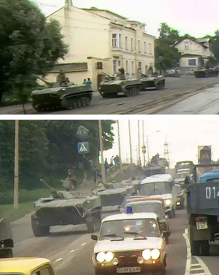 Советские танки на улицах Таллина