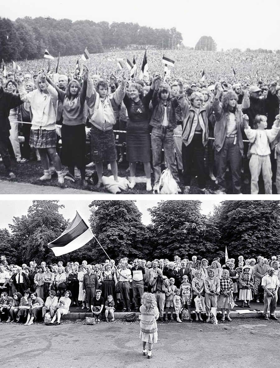 Граждане Эстонии выступают за независимость страны